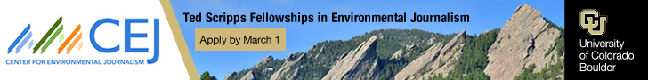Take your journalism skills to the next level and deepen your understanding of environmental issues by applying for the 2019-2020 Ted Scripps Fellowships in Environmental Journalism at the University of Colorado Boulder. Detailed information about the pro