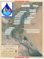 Map of Colorado River pulse moving toward Sea of Cortez