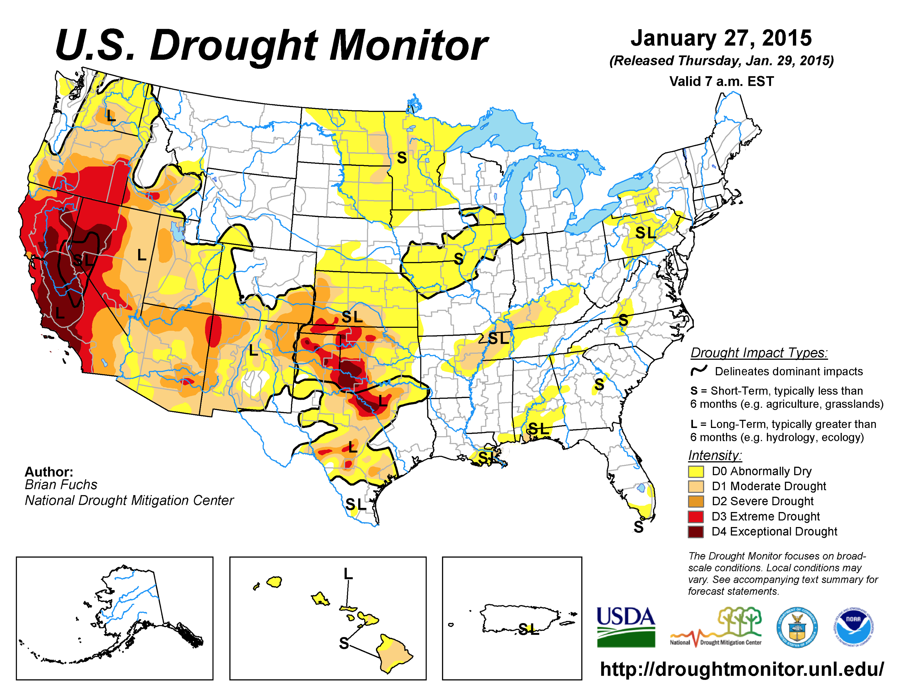 Dry January Means More Drought Across West High Country News - Us drought map 2016