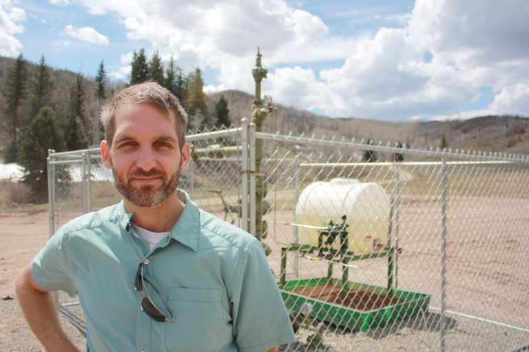 Eric Sanford at SG Interests' Bull Mountain Unit, near Paonia, Colorado.