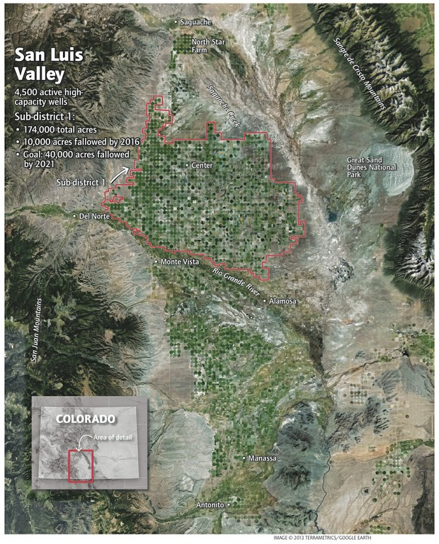 After years of drought and overuse, the San Luis Valley aquifer ...