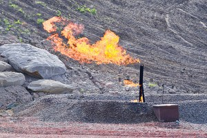 Methane leaks from oil and gas production on federal lands