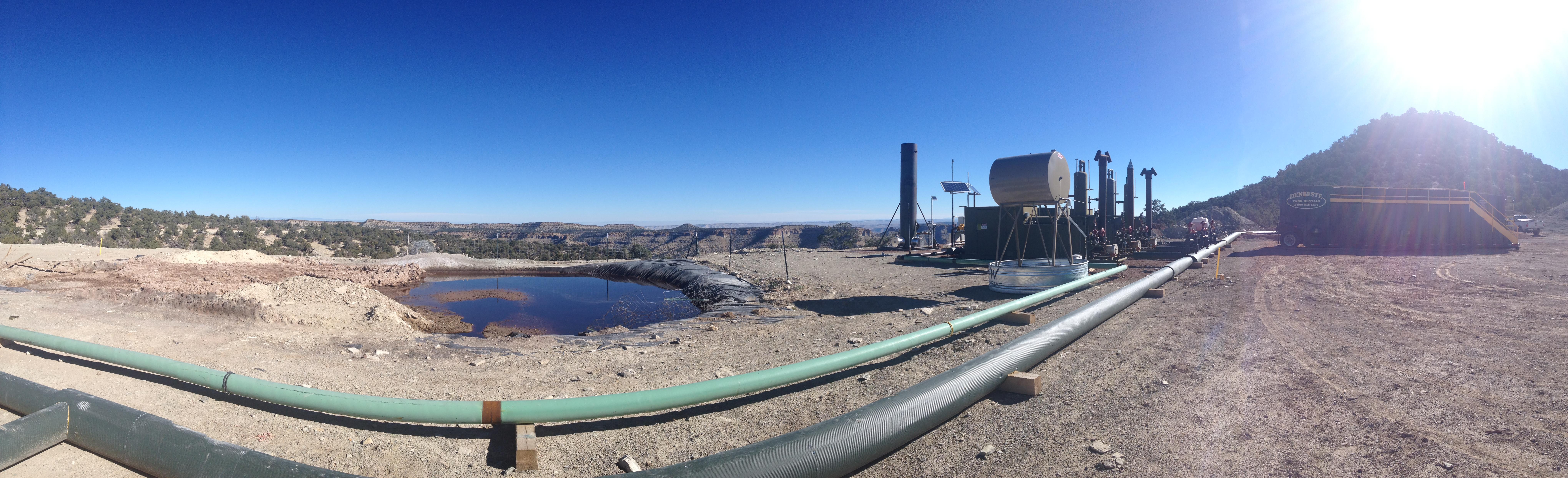 Drilling waste reserve pit