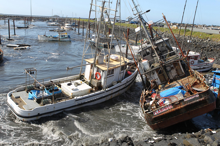 California crab boat captain powers through tsunami to for Crab fishing boats for sale