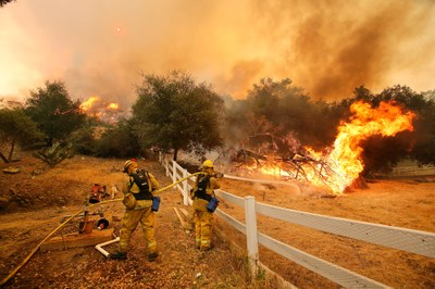 How do you fight wildfire during a pandemic?