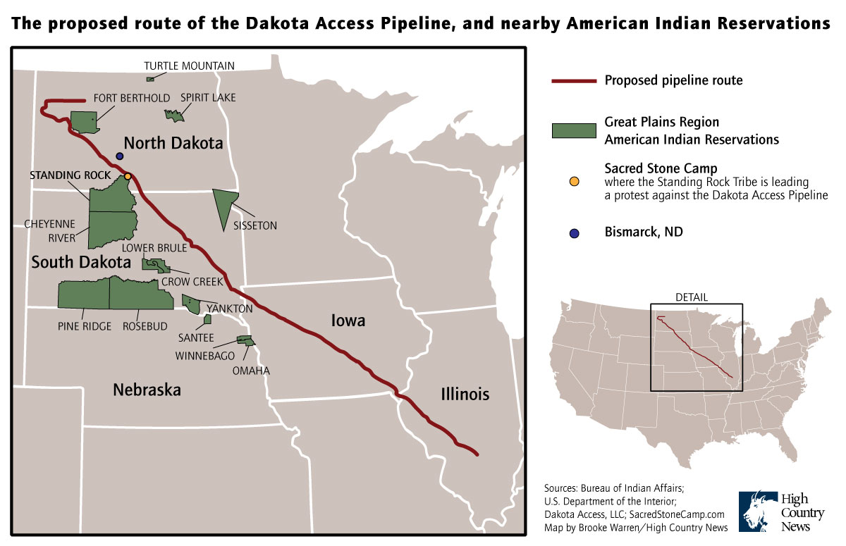 Photos Of The North Dakota Pipeline Protest High Country News - Map of pipeline bursts in us