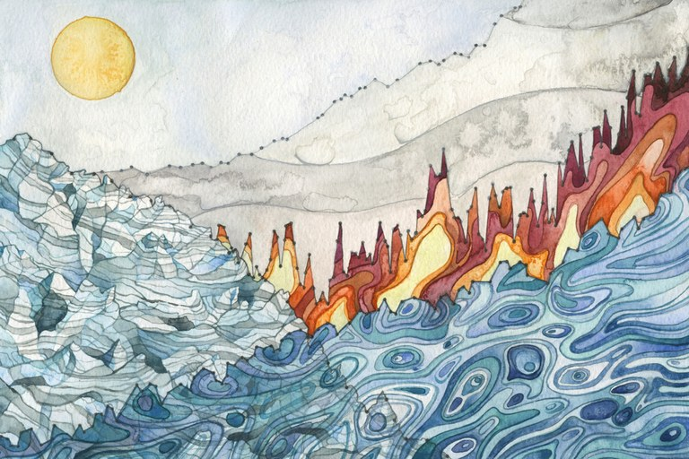 How one artist captured the changing climate in watercolor