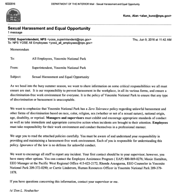 sexual harassment letter template