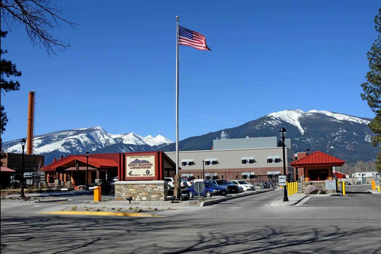 The main entry to Rocky Mountain Laboratories