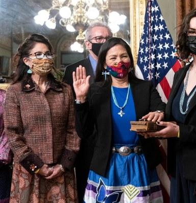 On day one, Haaland addresses Indigenous media
