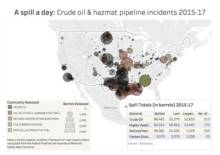Nationwide, oil pipeline spills are a near-daily reality ...