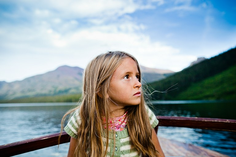 Sophia, 7. Two Medicine Lake, Blackfeet Reservation, Montana.