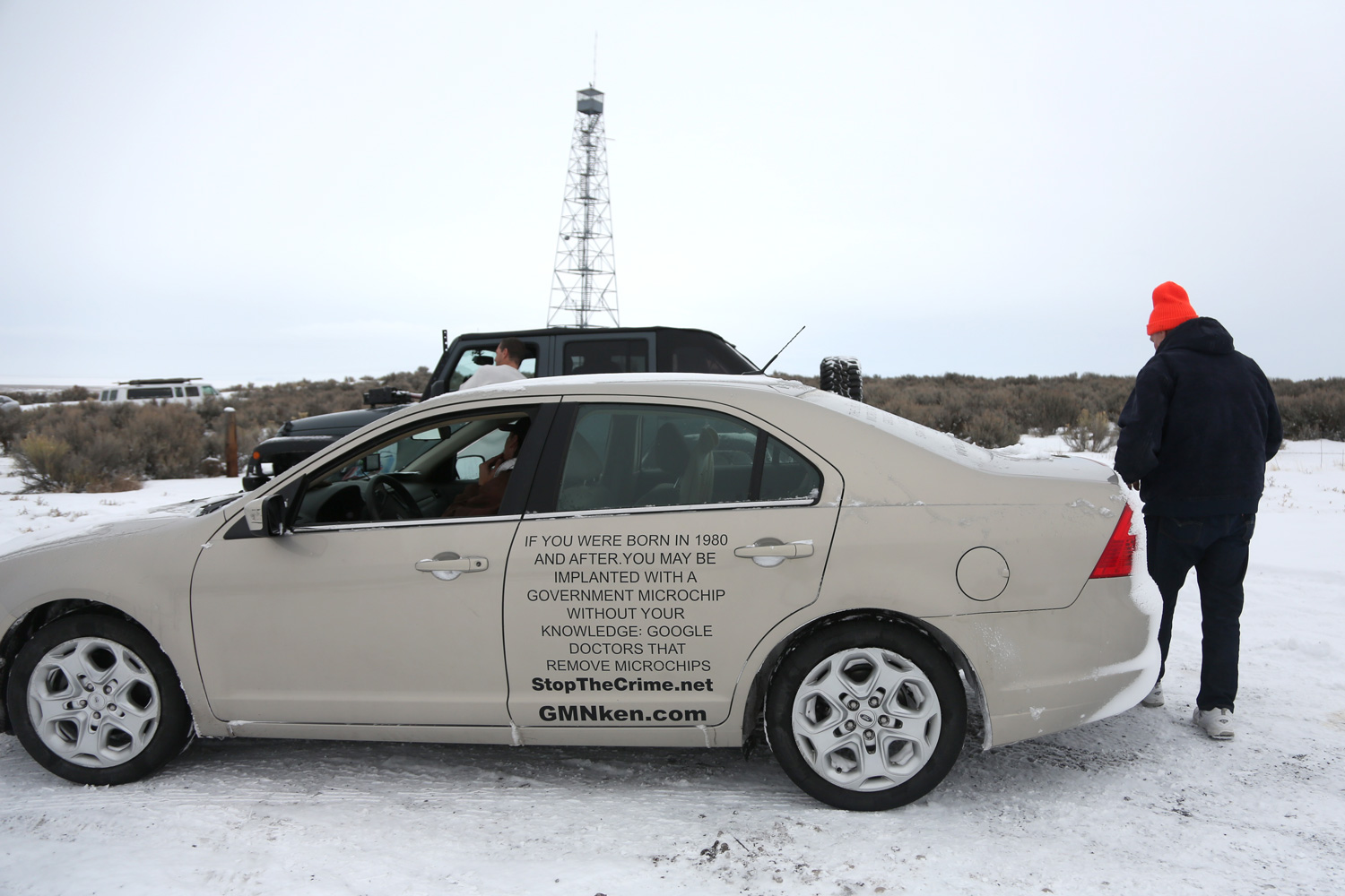 can we make sense of the malheur mess high country news a car ads about government implanted microchips links to websites about various conspiracy theories parked at the entrance to the refuge