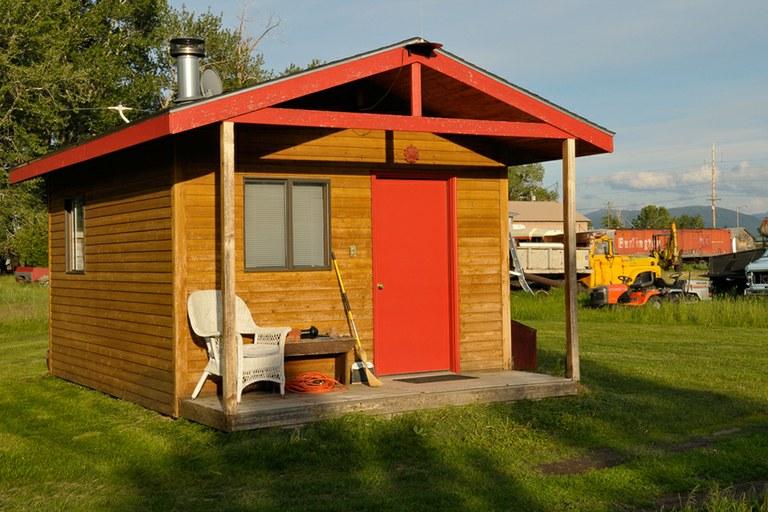 Junkyard cabin