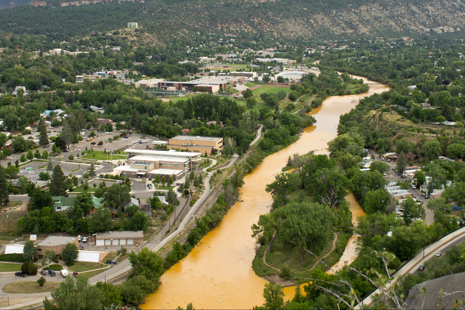 new sues epa and others over gold king disaster high the animas river runs through durango two days after the gold king mine blowout