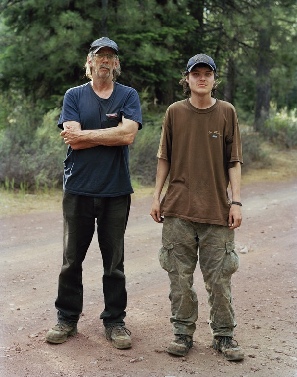 Ken and Brandon in a mushroom camp near Sisters, Oregon, 2011.