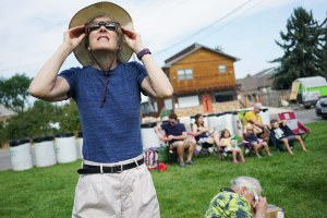 Photos: An unexpectedly quiet eclipse viewing