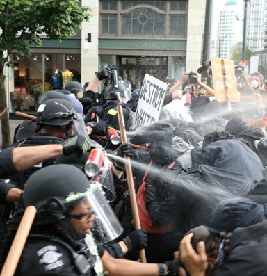 A far-right rally meets backlash in Seattle