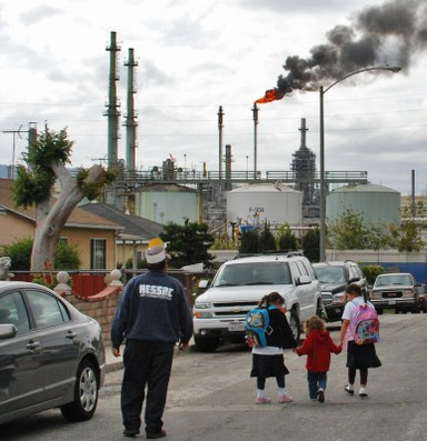 A new generation of activists, born next to an oil refinery