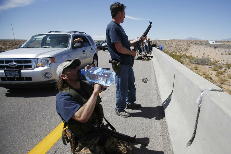 At Bundy Ranch trial, questions on guns and violence