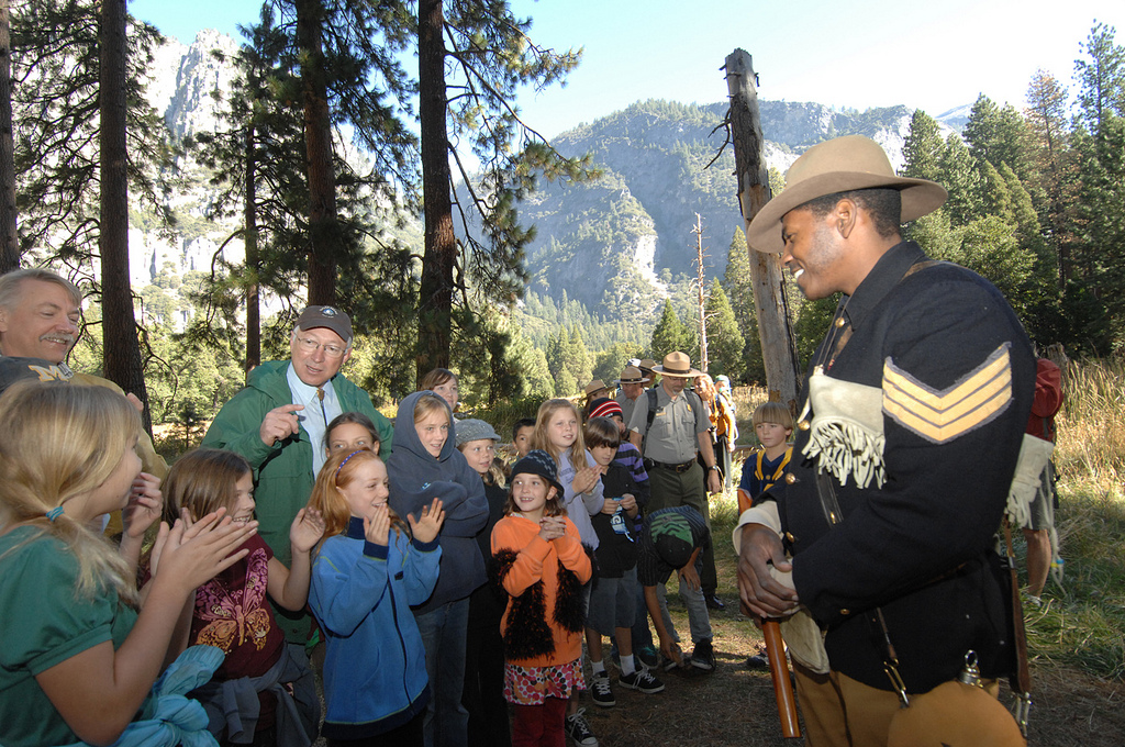 Shelton Johnson in Yosemite.
