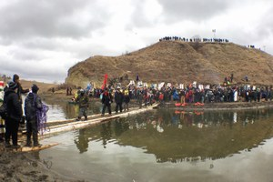 At Standing Rock, activists dig in on historic treaty land