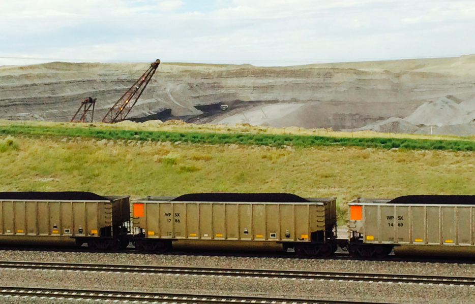 Coal train leaves Powder River Basin coal mine. By Elizabeth Shogren