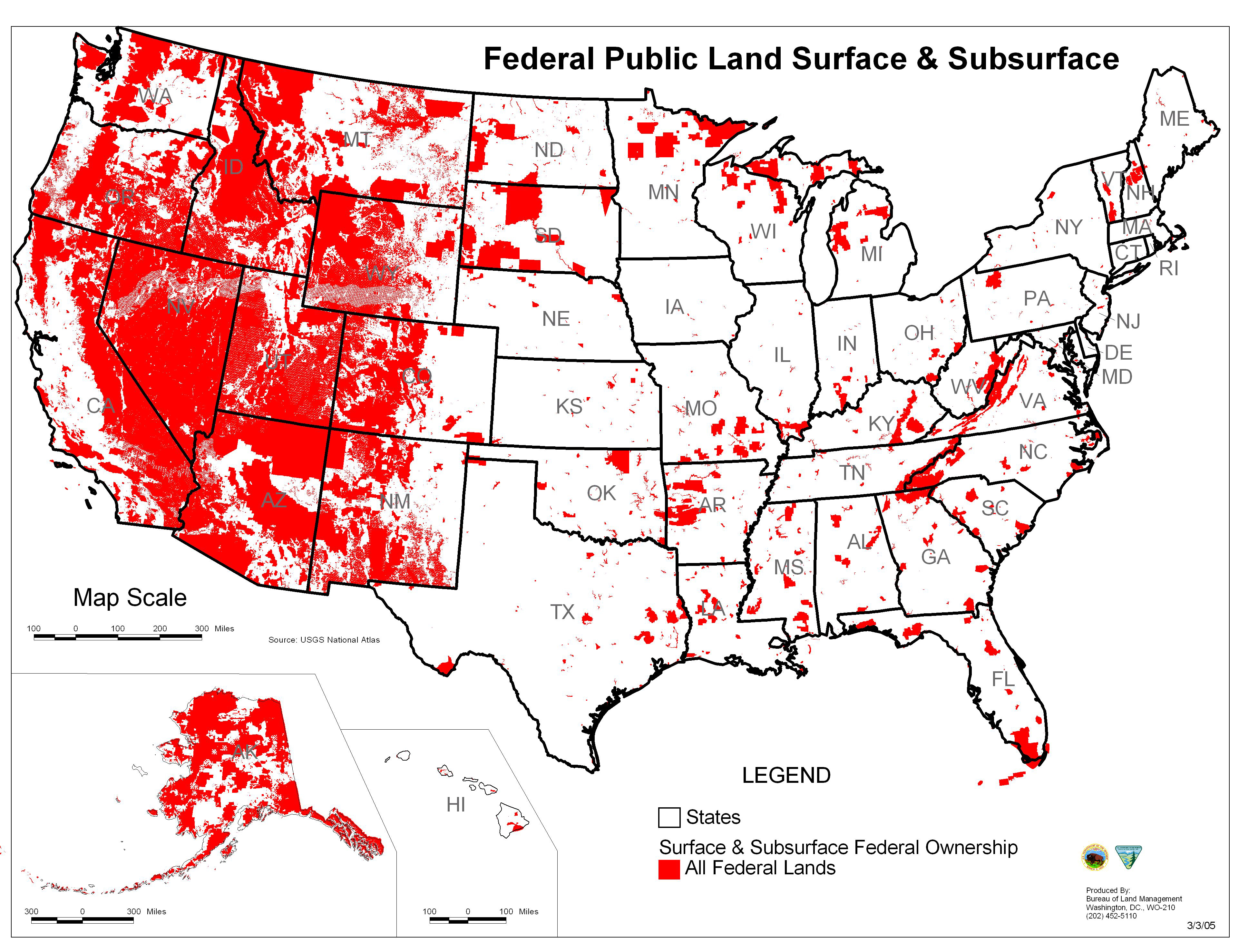 Map Of Federally Owned Land Northcountrylittles - Map us government owned land