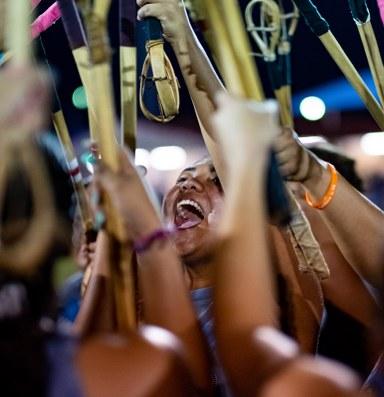 Stickball: Indigenous women show who's got game