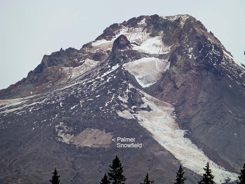 The Palmer snowfield as seen on Sept. 24, 2015.