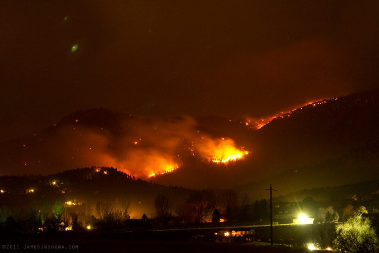 The FourMile fire in Boulder