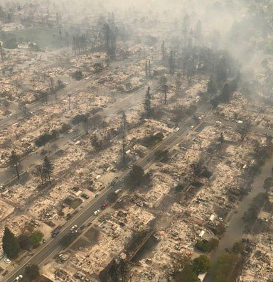 Historic wildfires rip through California wine country