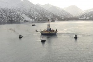 Coast Guard blames Shell for beached Arctic drill rig
