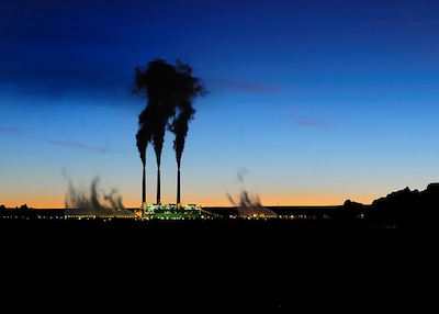 Navajo Generating Station at sunrise.