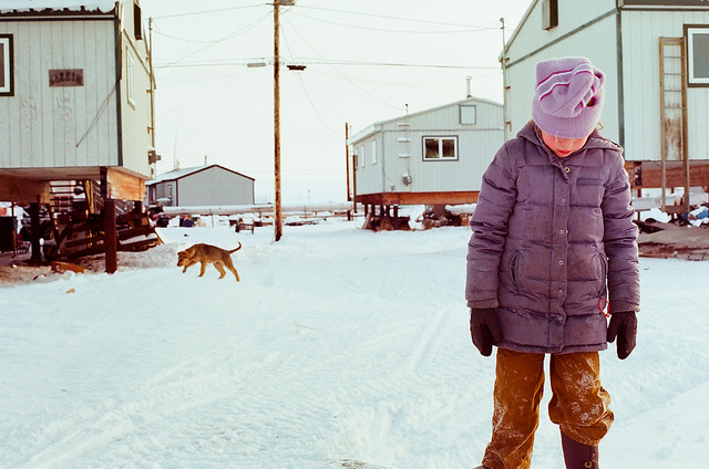alaska girl and dog 3