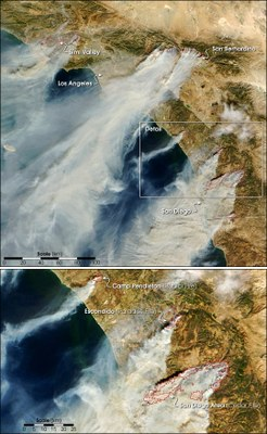 CA Fire from MODIS