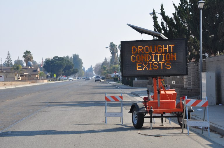 Sign near Wasco, California.
