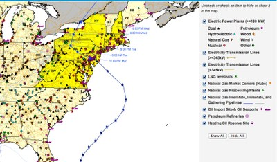 EIA Storm energy map