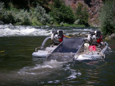 Klamath suction dredge