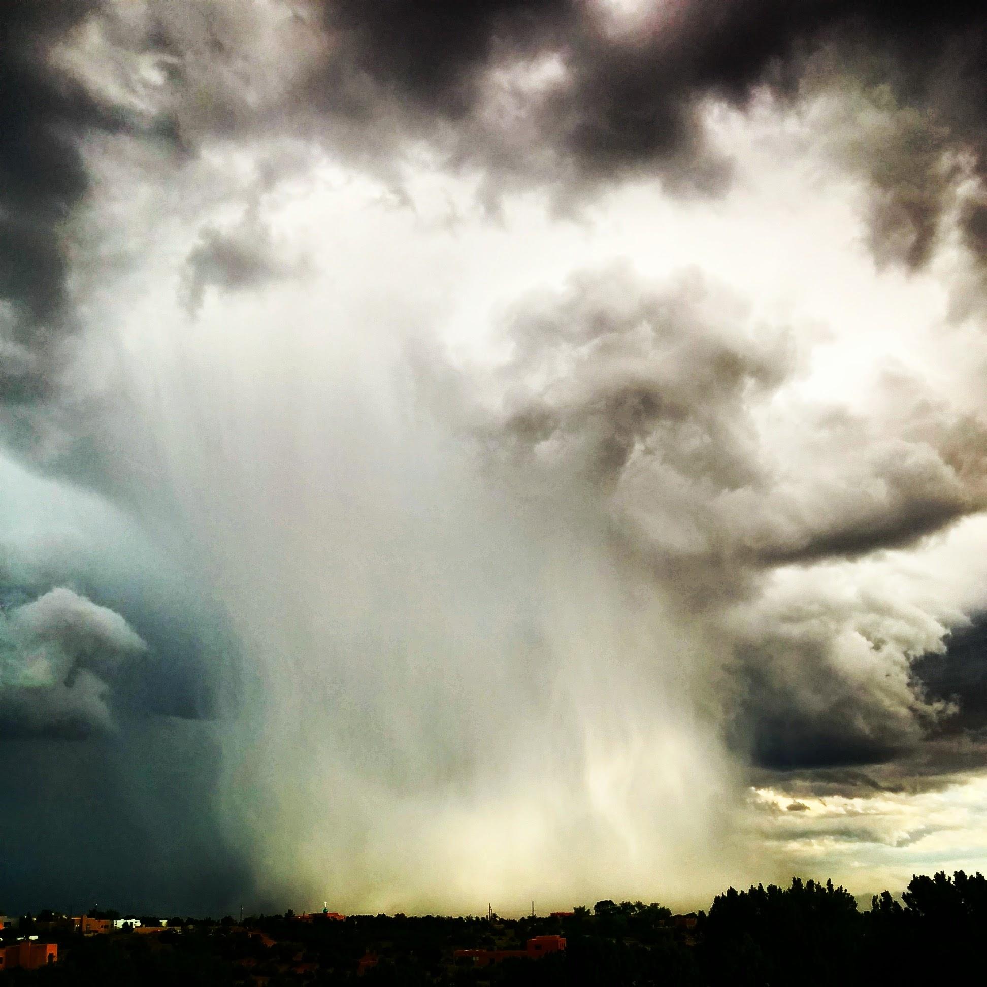 A storm near Santa Fe