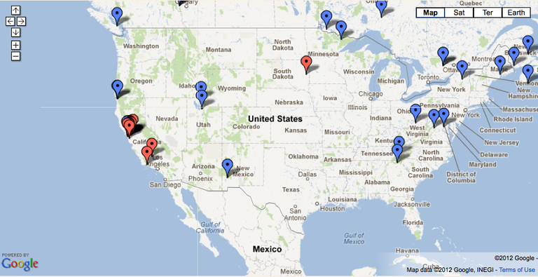 Zombie fly distribution map