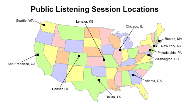 EPA co2 hearing map