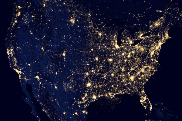 US nighttime view