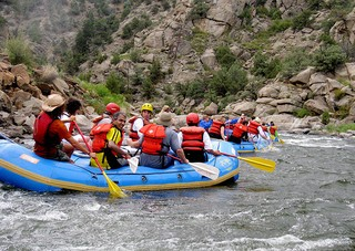 river rafting Browns Canyon