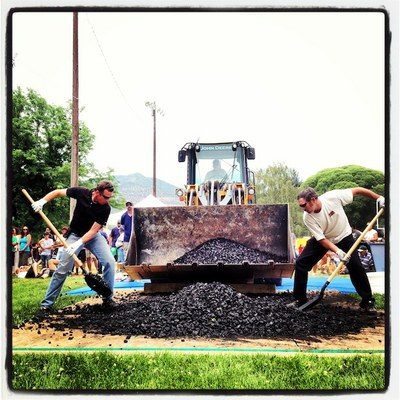 coal shoveling competition
