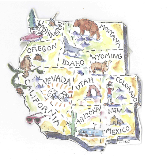 What The West Would Look Like With State Boundaries Drawn By - 11 western us states maps