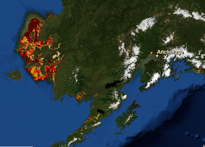 AK sea rise map