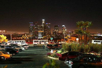 LA skyline from Dodger stadium