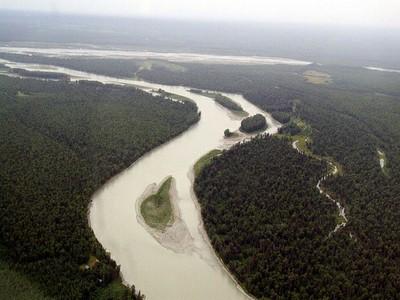Talkeetna-Susitna River confluence