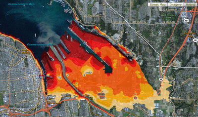 Tacoma sea level rise map
